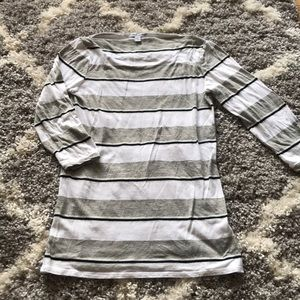 James Perse boatneck striped tee
